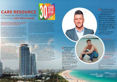 CARE RESOURCE COMMEMORATES ITS 30TH YEAR OF AIDS WALK MIAMI